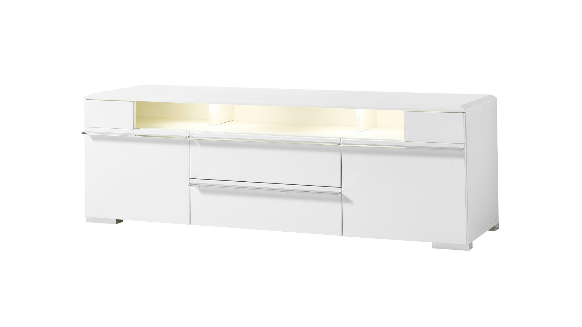Lowboard Als Tv Möbel Oder Phono Möbel Weiße Kunststoffoberflächen