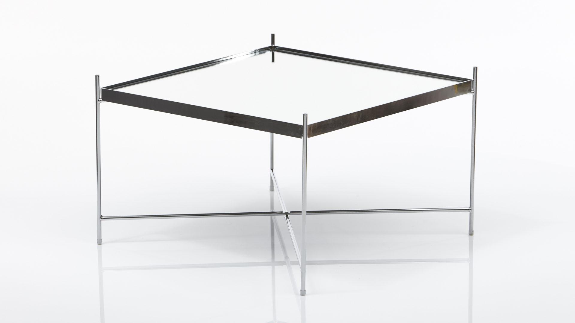 Beistelltisch Concept Aus Glas In Transparent Als Stilvoller Wohnzimmertisch Klarglas Chrom Ca