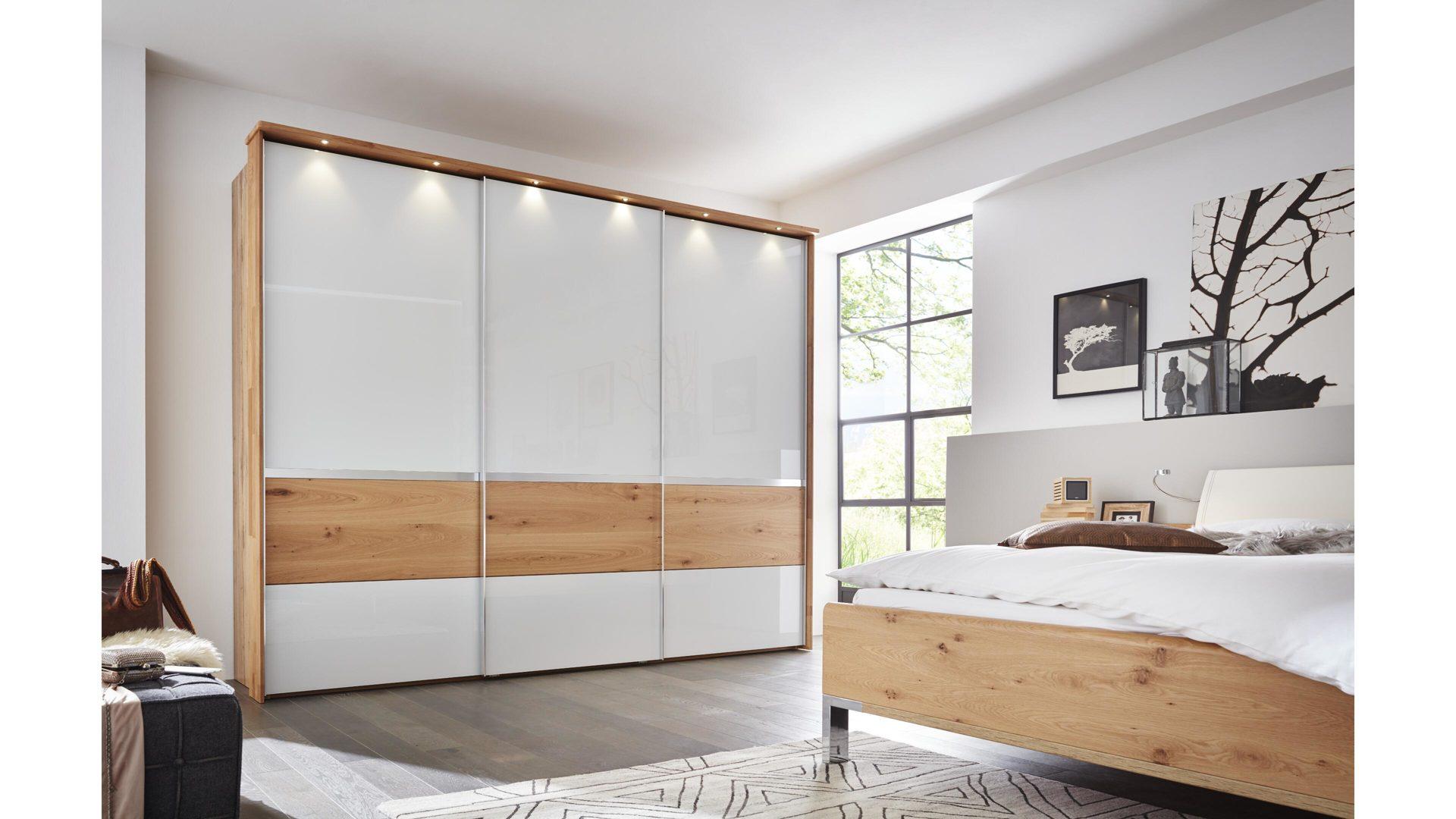 Schlafzimmer, Interliving, rauch, Schwebetürenschrank, Nachtkommode ...